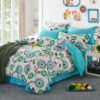 Delightful White And Turquoise Cotton Bedding Set 1 100x100 - Delightful White And Turquoise Cotton  Bedding Set