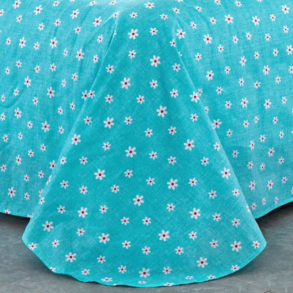 Delightful White And Turquoise Cotton Bedding Set 3 600x600 - Delightful White And Turquoise Cotton  Bedding Set