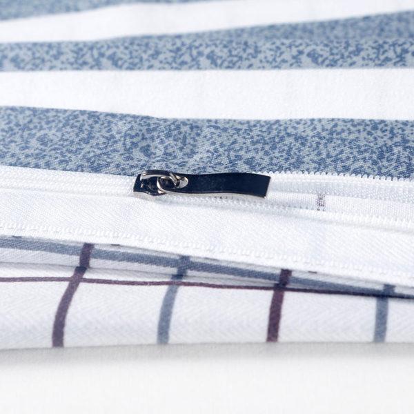 Elegant Light Grey and White Checks Cotton  Bedding Set