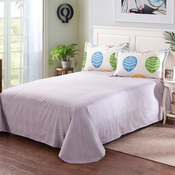 Enthralling White Cotton Bedding Set 4