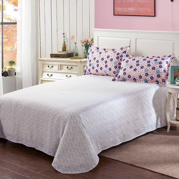 Exquisite Pink And White Cotton Bedding Set 3 1 600x600 - Exquisite Pink And White Cotton  Bedding Set