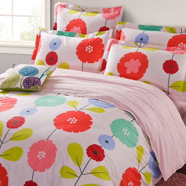 Fab White And Pink Floral Cotton Bedding Set 1 600x600 - Fab White And Pink Floral Cotton  Bedding Set