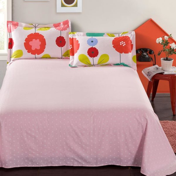 Fab White And Pink Floral Cotton Bedding Set 4 600x600 - Fab White And Pink Floral Cotton  Bedding Set