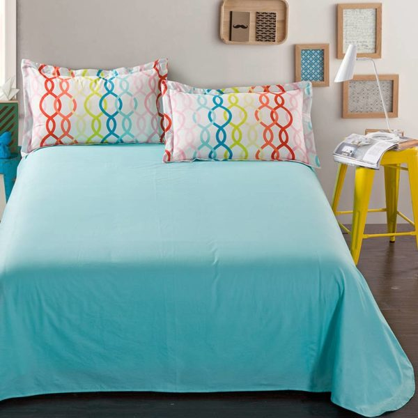 Fabulous Light Blue Cotton Bedding Set 3 600x600 - Fabulous Light Blue Cotton Bedding Set