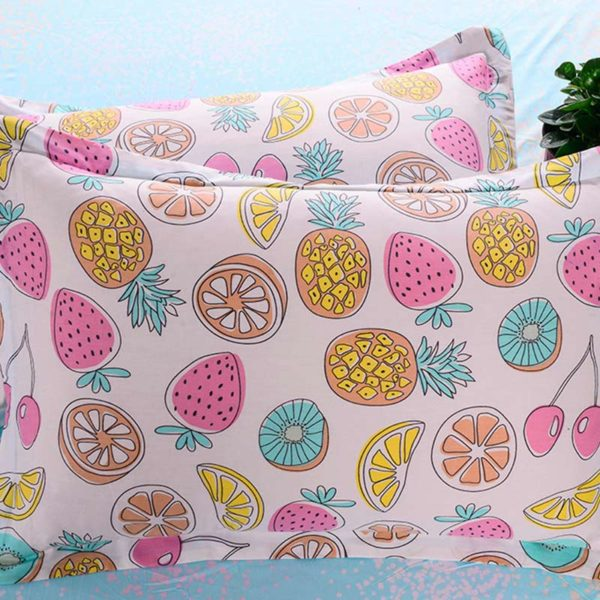Fancy Fruit Printed Cotton Bedding Set 2 600x600 - Fancy Fruit Printed Cotton Bedding Set