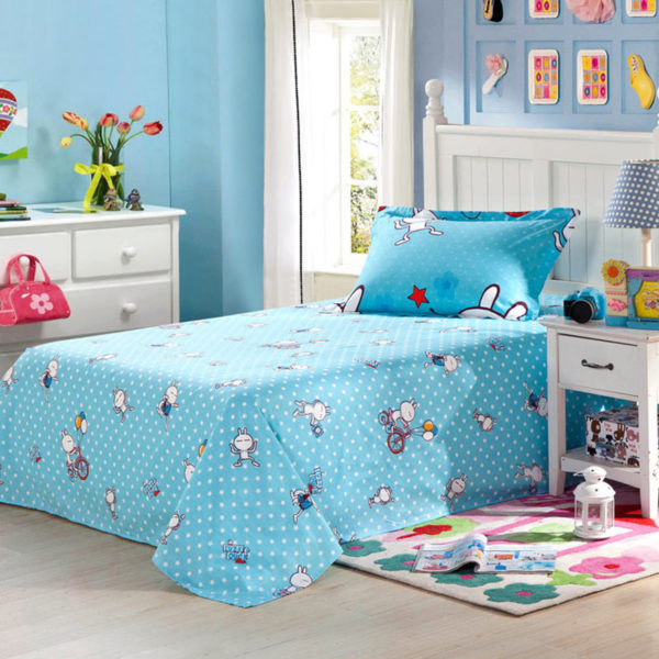 Fascinating Light Blue Cartoon Cotton Bedding Set 3 600x600 - Fascinating Light Blue Cartoon Cotton Bedding Set