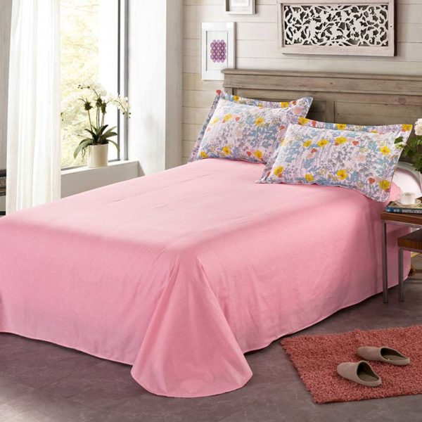 Graceful Pink And White Floral Cotton Bedding Set 5 600x600 - Graceful Pink And White Floral Cotton  Bedding Set
