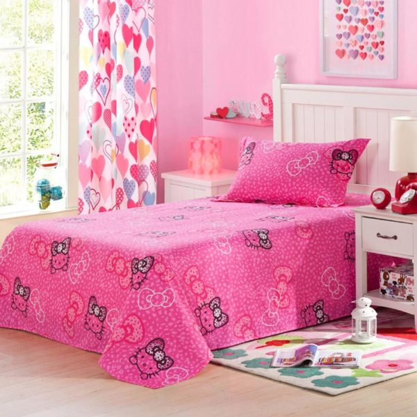 Hello Kitty Themed Pink Bedding Set 2 600x600 - Hello Kitty Themed Pink Bedding Set