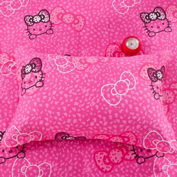 Hello Kitty Themed Pink Bedding Set 3 600x600 - Hello Kitty Themed Pink Bedding Set