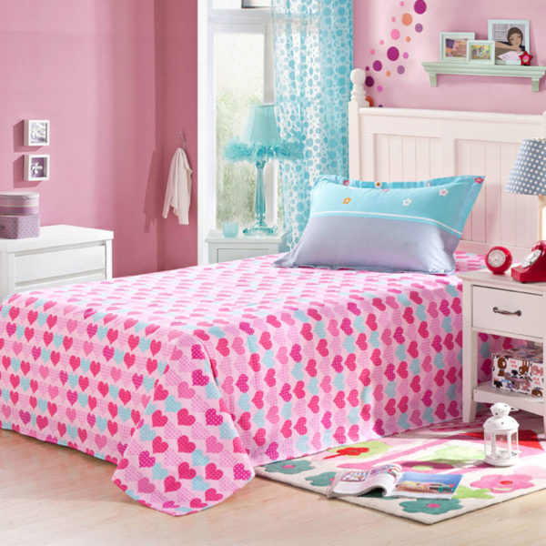 Light Blue and Pink Shaun the Sheep Cotton Bedding Set 3 600x600 - Light Blue and Pink Shaun the Sheep Cotton Bedding Set