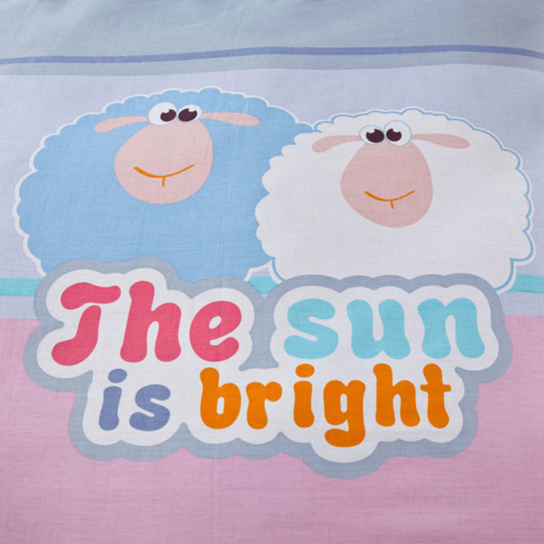 Light Blue and Pink Shaun the Sheep Cotton Bedding Set 5 600x600 - Light Blue and Pink Shaun the Sheep Cotton Bedding Set