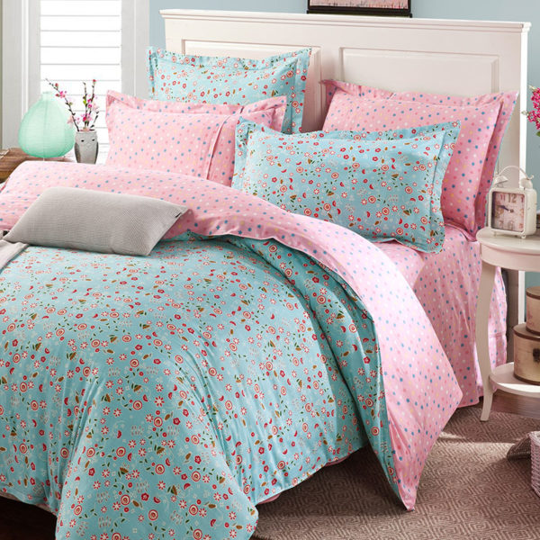 Lovely Floral Cotton Bedding Set 1 600x600 - Lovely Floral  Cotton  Bedding Set