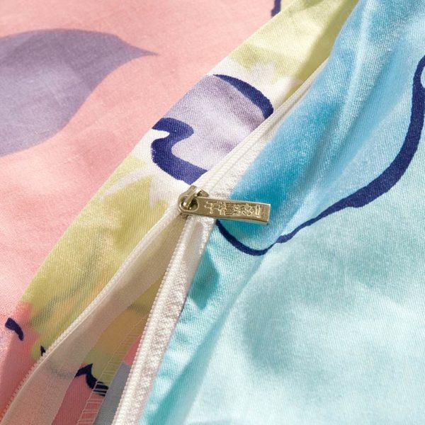 Lovely Pink And Light Blue Floral Cotton Bedding Set 2 600x600 - Lovely Pink And Light Blue Floral Cotton  Bedding Set