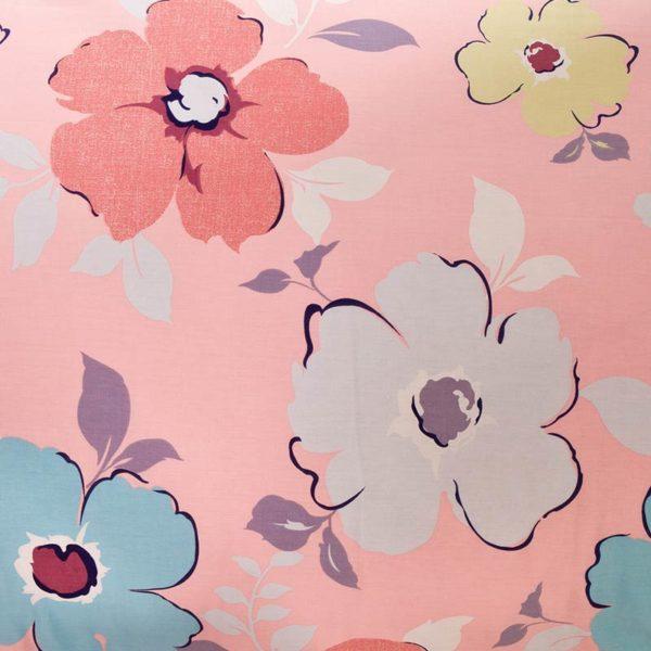 Lovely Pink And Light Blue Floral Cotton Bedding Set 4 600x600 - Lovely Pink And Light Blue Floral Cotton  Bedding Set