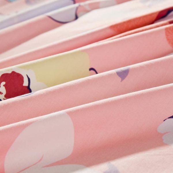 Lovely Pink And Light Blue Floral Cotton Bedding Set 5 600x600 - Lovely Pink And Light Blue Floral Cotton  Bedding Set