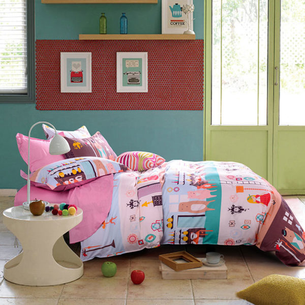 Luxurious Three Bears Themed Cotton Bedding Set 1 600x600 - Luxurious Three Bears Themed Cotton Bedding Set