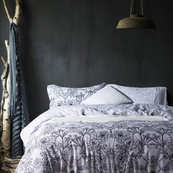 Monochromatic Floral  Cotton Bedding Set
