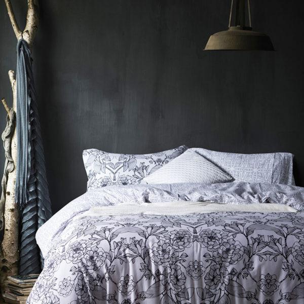 Monochromatic Floral Cotton Bedding Set 1 600x600 - Monochromatic Floral  Cotton Bedding Set
