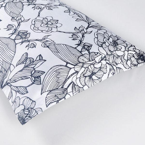Monochromatic Floral Cotton Bedding Set 2 600x600 - Monochromatic Floral  Cotton Bedding Set