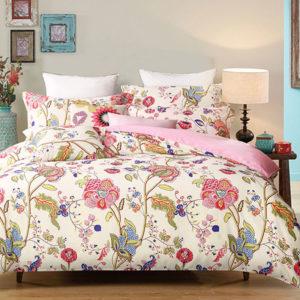 Multicolored Floral  Cotton Bedding Set