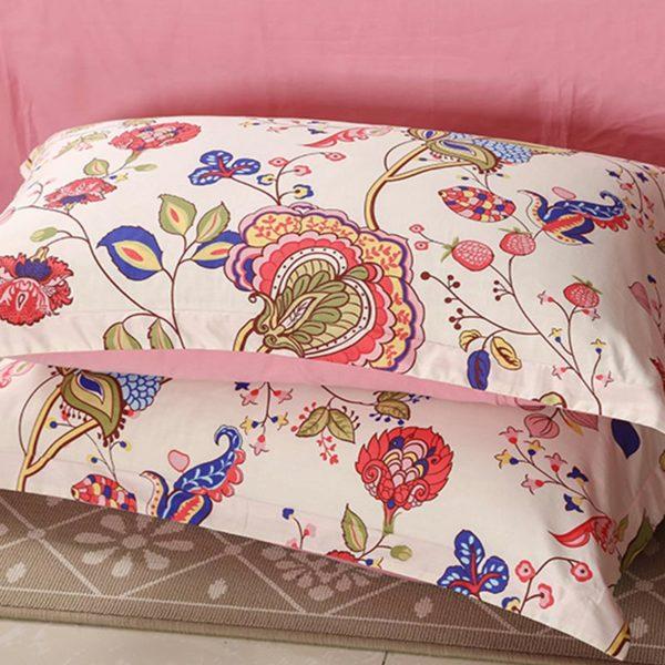 Multicolored Floral Cotton Bedding Set 3 600x600 - Multicolored Floral  Cotton Bedding Set