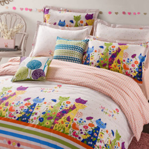 Peppy Animal Themed Cotton Bedding Set 1 300x300 - Peppy Animal Themed Cotton  Bedding Set