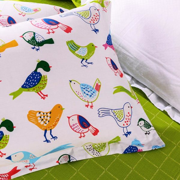Peppy Bird Printed Cotton Bedding Set 3 600x600 - Peppy Bird Printed Cotton  Bedding Set