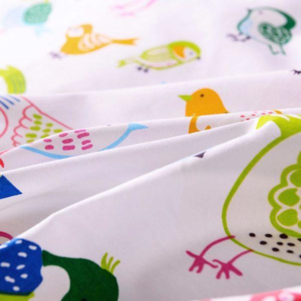 Peppy Bird Printed Cotton  Bedding Set