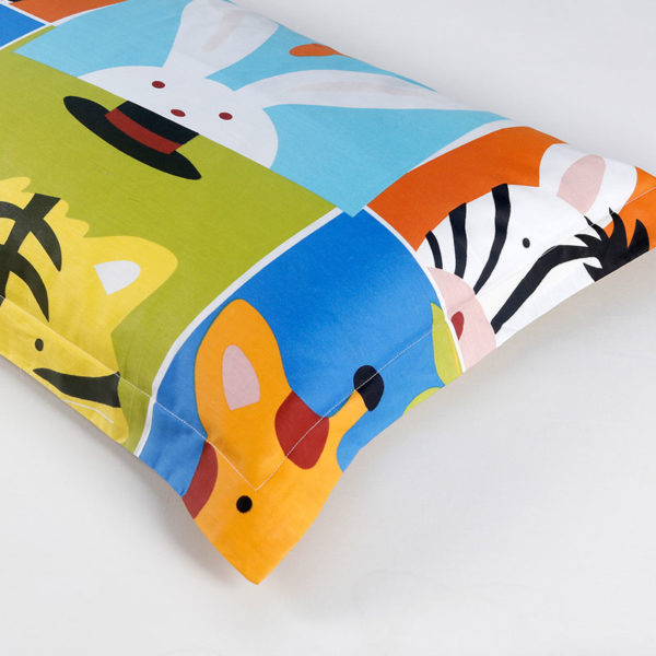 Peppy Zoo Themed Cotton Bedding Set 5 600x600 - Peppy Zoo Themed Cotton Bedding Set