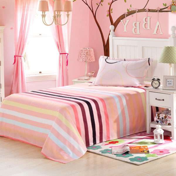 Pink and White Circle Patterned Cotton Bedding Set 3 600x600 - Pink and White Circle Patterned Cotton Bedding Set
