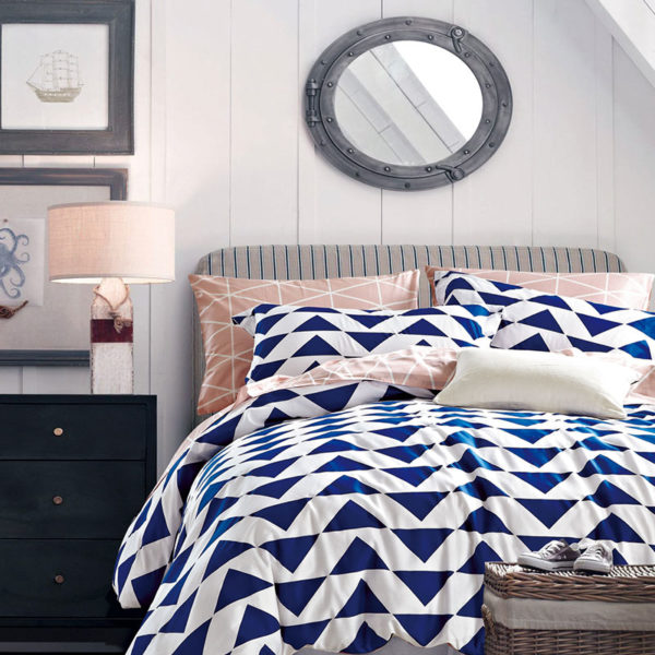 Premium Geometrical Themed Cotton Bedding Set 1