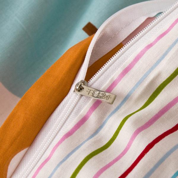 Pretty White Stripes Cotton Bedding Set