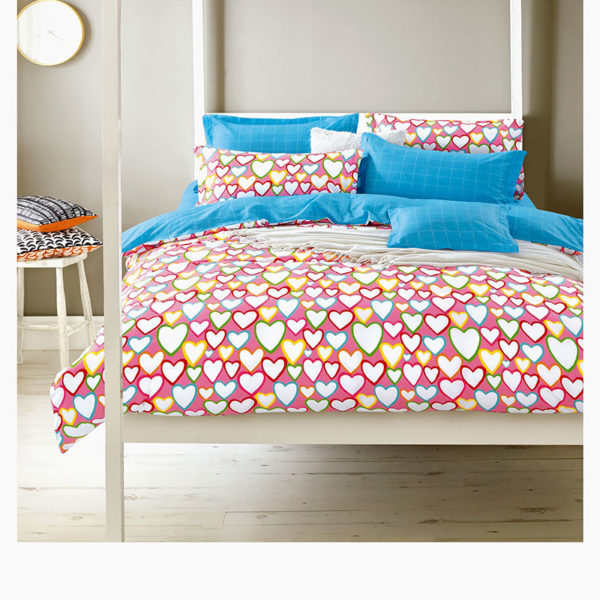 Romantic Hearts Cotton Bedding Set 1