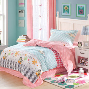 Romantic Light Blue and pink butterfly pattern Cotton Bedding Set 1 300x300 - Romantic Light Blue and pink butterfly pattern Cotton  Bedding Set