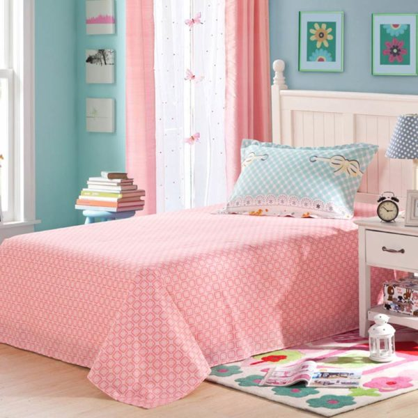 Romantic Light Blue and pink butterfly pattern Cotton Bedding Set 4 600x600 - Romantic Light Blue and pink butterfly pattern Cotton  Bedding Set