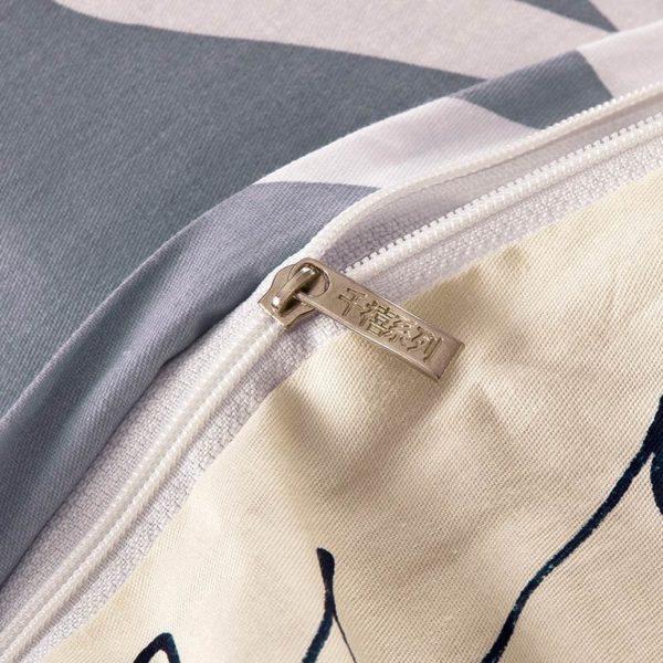 Soothing Light Grey Cotton Bedding Set 2 600x600 - Soothing Light Grey Cotton Bedding Set