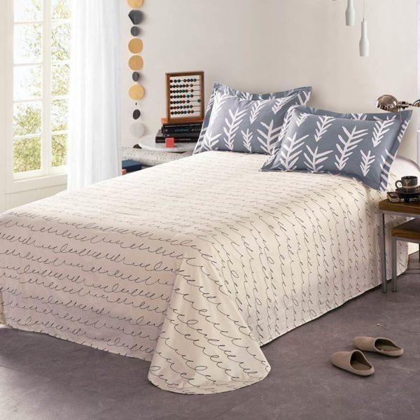 Soothing Light Grey Cotton Bedding Set 3 600x600 - Soothing Light Grey Cotton Bedding Set