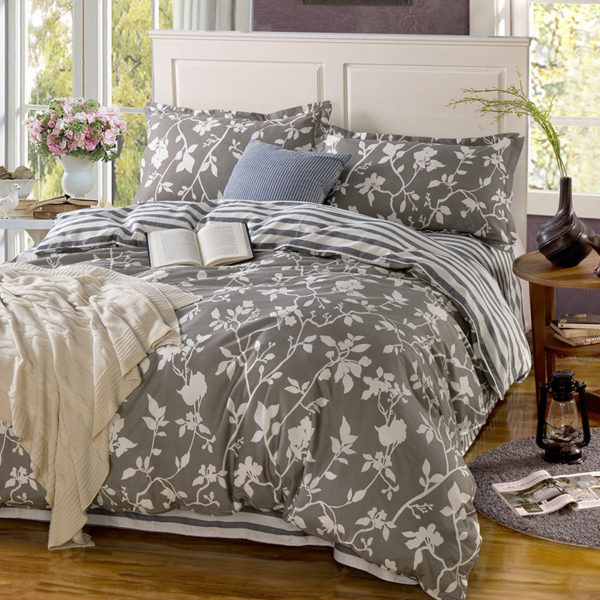 Soothing Steel Grey Cotton Bedding Set 1 600x600 - Soothing Steel Grey Cotton Bedding Set