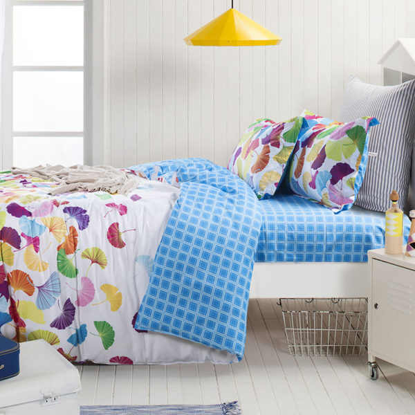 Soothing White Floral Cotton Bedding Set 1 1