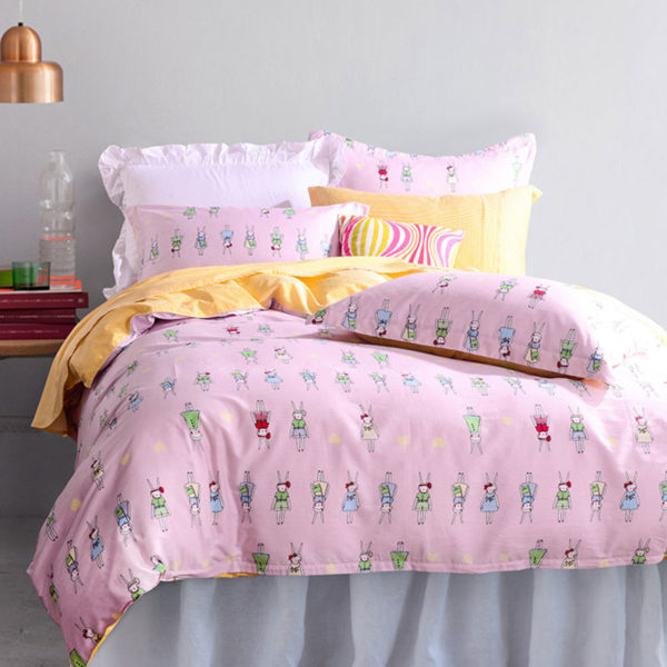 Soothing grey And Purple Cotton Bedding Set 4 600x600 - Soothing grey And Purple Cotton  Bedding Set