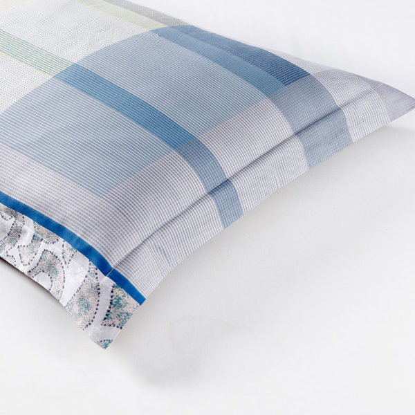 Sophisticated Light Blue And White Cotton Bedding Set 1