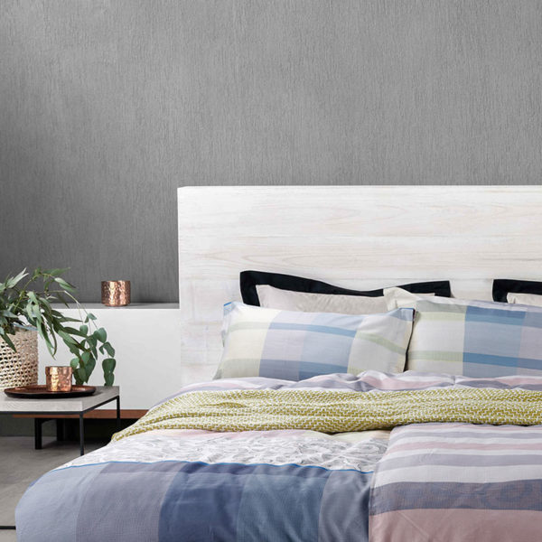 Sophisticated Light Blue And White Cotton Bedding Set