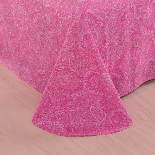 Sophisticated Pink and White Cotton Bedding Set 4 600x600 - Sophisticated Pink and White  Cotton  Bedding Set