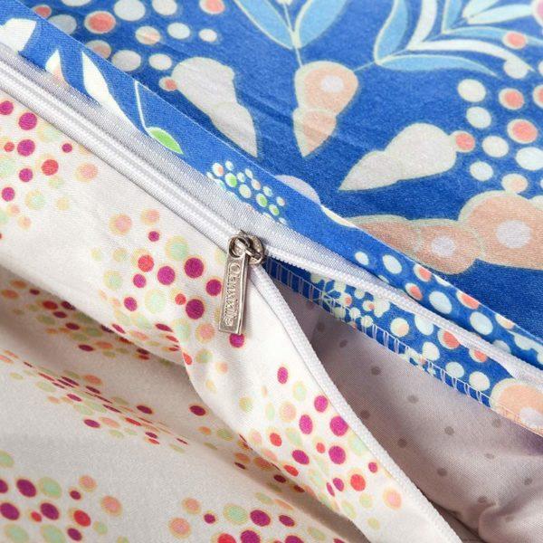 Stunning Blue Cotton Bedding Set 3 600x600 - Stunning Blue Cotton  Bedding Set