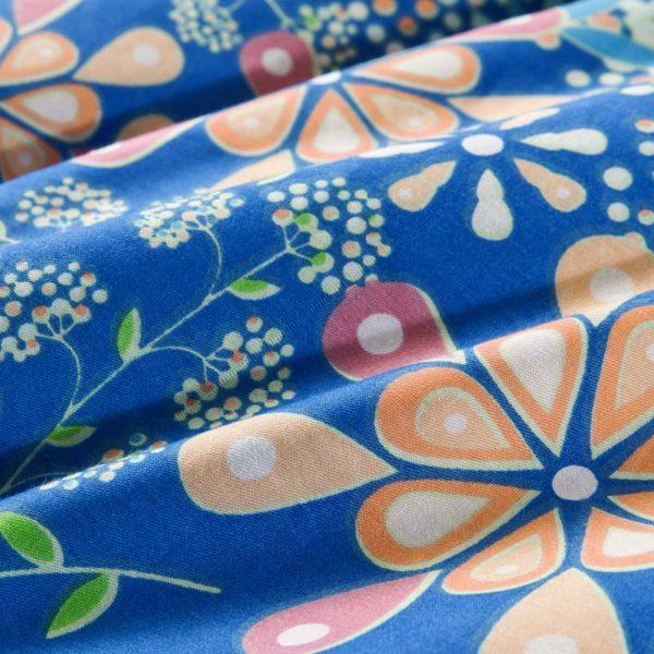 Stunning Blue Cotton Bedding Set 4 600x600 - Stunning Blue Cotton  Bedding Set