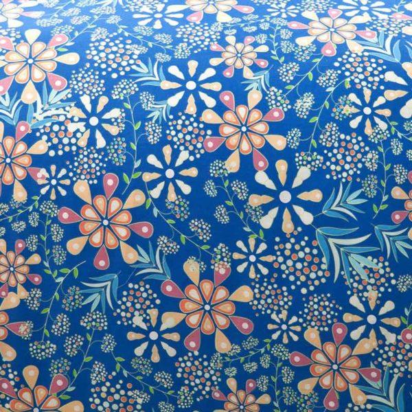 Stunning Blue Cotton Bedding Set 5 600x600 - Stunning Blue Cotton  Bedding Set