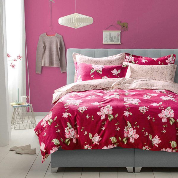 Stylish Cream And Crimson Cotton Bedding Set 1 600x600 - Stylish Cream And Crimson Cotton Bedding Set