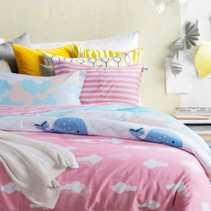 Sweet Blue And Pink Cotton Bedding Set 1 300x300 - Sweet Blue And Pink Cotton Bedding Set
