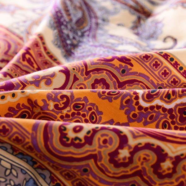 Tasteful Orange And Purple Cotton Bedding set 5 600x600 - Tasteful Orange And Purple Cotton Bedding set