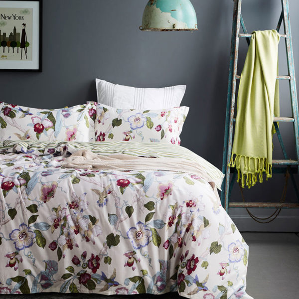 Tranquil Floral Cotton Bedding Set 1 600x600 - Tranquil Floral Cotton Bedding Set